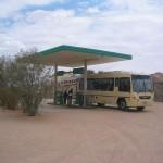 Tankstelle vor dem Gate