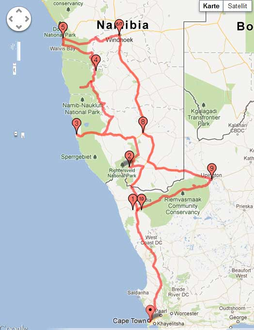 Vorbereitung Teil 3 – Die Route